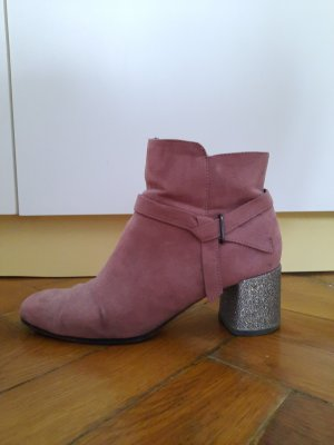 Tamaris Platform Booties dusky pink