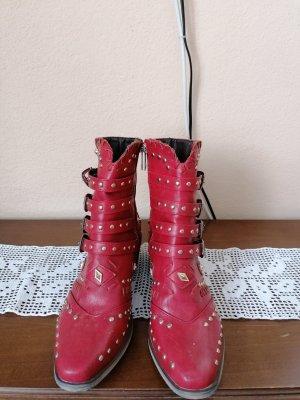 Western Booties red