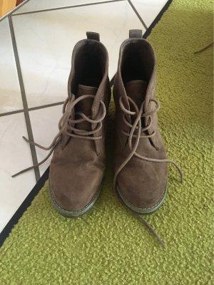 Wedge Booties grey brown