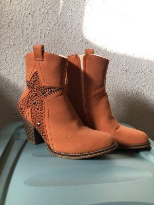 Stivaletto western arancione