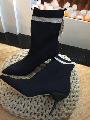 Zara Stivaletto arricciato blu scuro