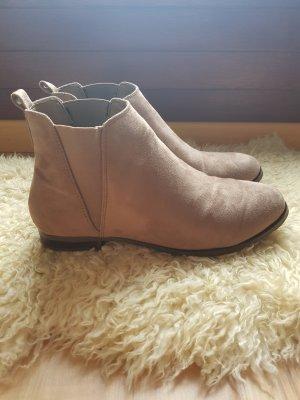 Anna Field Wciągane buty za kostkę beżowy