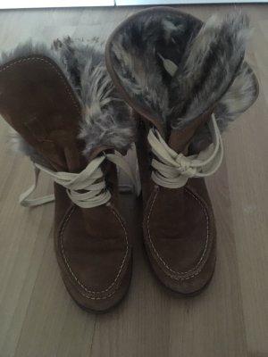Botas de piel multicolor