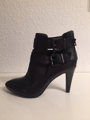 Spm Booties black-silver-colored