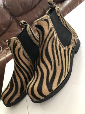 Elena Shoes Botas deslizantes marrón arena-marrón-negro tejido mezclado