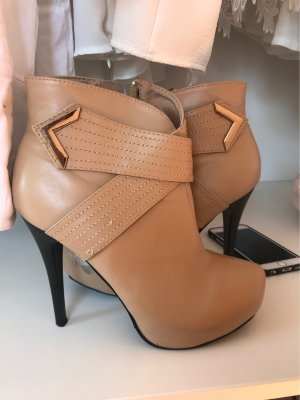 Platform Boots gold-colored-beige
