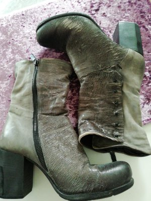A.S.98 Zipper Booties silver-colored-grey