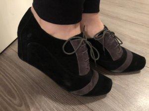 Bata Bottines à lacets noir-gris