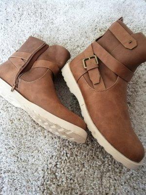 Walkx Women Korte laarzen bruin
