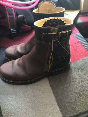 Agnes Western Booties brown-black brown leather