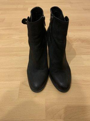 Aldo Zipper Booties black leather