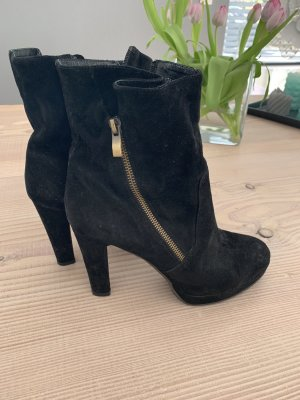 Stiefeletten Ankle Boots Di Lauro Gr. 41 passen 40 schwarz