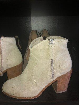 Asos Shoes Wciągane buty za kostkę kremowy-beżowy