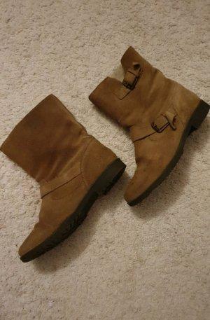 Bershka Winter boots zandig bruin-camel