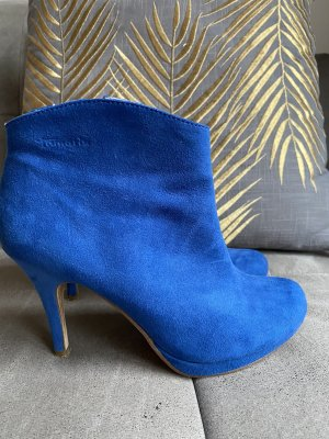 Tamaris Plateauzool laarsjes blauw-donkerblauw