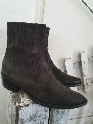 Stiefeletten Boots Echtleder dunkelbraun