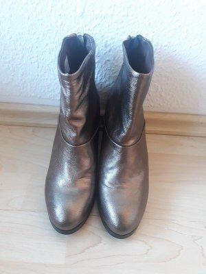 Stiefeletten, Boots, gold, NEU