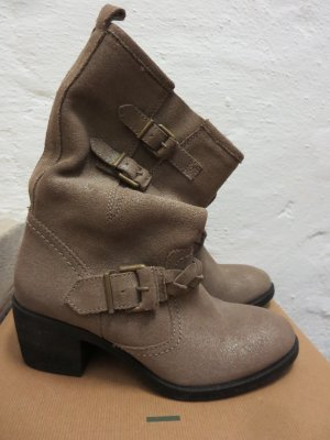 Unisa Bottines à enfiler chameau cuir