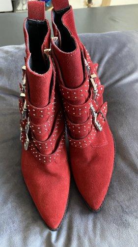 Bronx Stivaletto con zip rosso