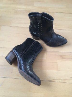 Mustang Shoes Stivaletto western marrone-marrone scuro