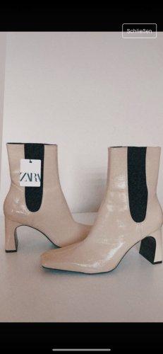 Zara Buty zimowe beżowy-kremowy