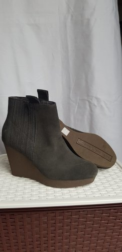 Calvin Klein Jeans Wedge Booties grey-anthracite
