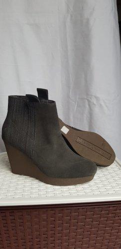 Calvin Klein Jeans Bottine à talon compensé gris-gris anthracite