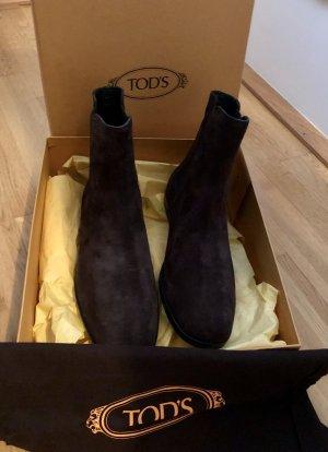 Tod's Slip-on Booties dark brown leather