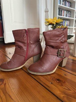 Stiefeletten Cowboy Boots Western Stiefel Bikerboots 39 rot