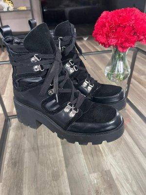 Zara Chukka boot noir-argenté
