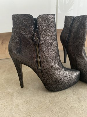 Cute Couture Platform Booties black-gold-colored