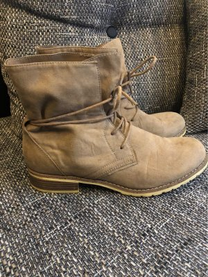 Graceland Lace-up Booties beige-light brown