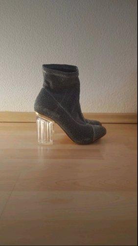 keine Wciągane buty za kostkę srebrny