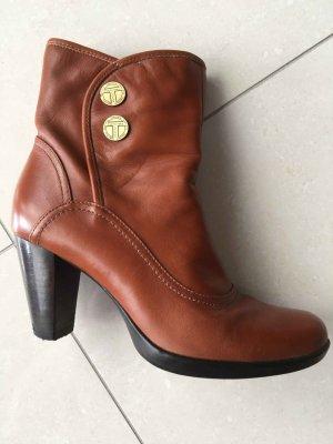 1 NY tee Zapatos carmín-bermejo Cuero