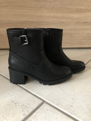 New Look Bottines à enfiler noir-argenté