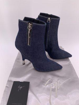 Giuseppe Zanotti Slouch Booties dark blue
