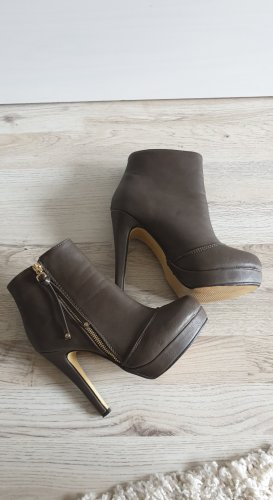 Platform Booties gold-colored-brown