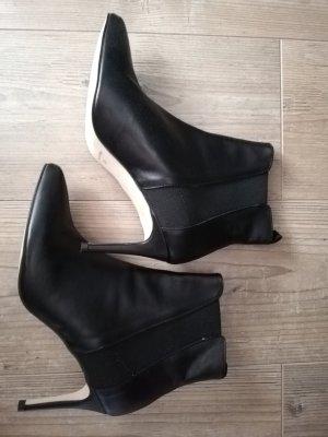 Sienna Wciągane buty za kostkę czarny Skóra