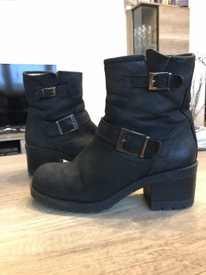 Sixtyseven Winter Booties black leather