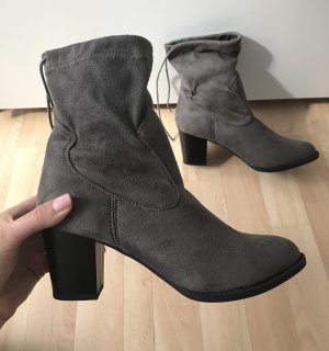 Botas deslizantes taupe-gris antracita