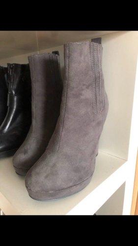 H&M Stivaletto slip-on grigio