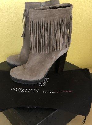 Marc Cain Platform Booties dark grey-grey