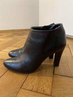 Stiefeletten, Größe 40, schwarz, Leder