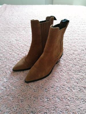 H&M Slip-on Booties brown-cognac-coloured