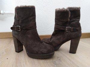 Alpe Woman Stivaletto con zip marrone scuro