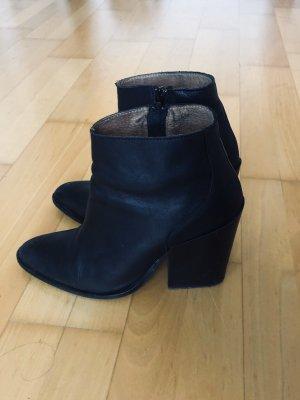 Stiefeletten Leder Ankle Boots schwarz