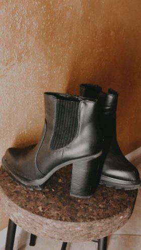 Catwalk Bottines à plateforme noir faux cuir