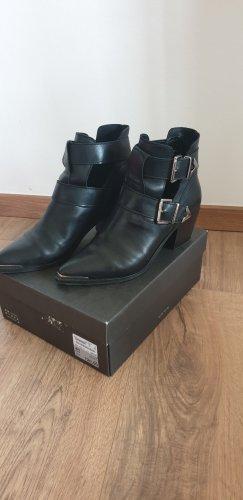 Another A Cut out boots zwart-zilver