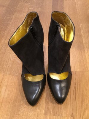 Peter Kaiser Cut Out Booties black-gold-colored