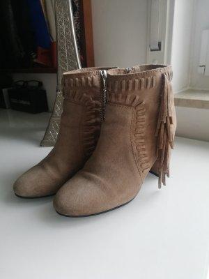 H&M Botines estilo vaquero marrón claro